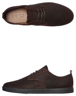 UMBER WAXED SUEDE MENS FOOTWEAR CLAE FASHION SHOES - CL19CES01UMB
