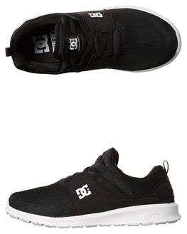 BLACK WHITE KIDS BOYS DC SHOES SNEAKERS - ADBS700047BKW