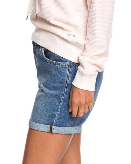 MEDIUM BLUE WOMENS CLOTHING ROXY SHORTS - ERJDS03226-BMTW