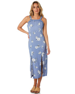 CORNFLOWER FLORAL WOMENS CLOTHING ELWOOD DRESSES - W01705CORN