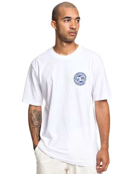 SNOW WHITE MENS CLOTHING DC SHOES TEES - UDYZT03583-WBB0