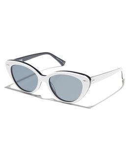 WHITE BLACK WOMENS ACCESSORIES EPOKHE SUNGLASSES - 0802WHTBLKPOBLKWHBLK
