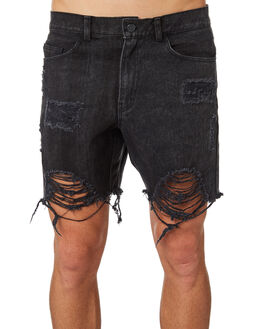 FADED BLACK MENS CLOTHING THE PEOPLE VS SHORTS - HS18084FBLK