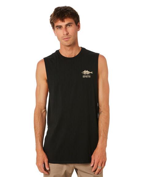 BLACK MENS CLOTHING DEPACTUS SINGLETS - D5212270BLACK