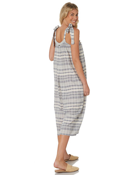 BLUE GINGHAM TEXTURE OUTLET WOMENS SAINT HELENA PLAYSUITS + OVERALLS - SH18SU909BLUG