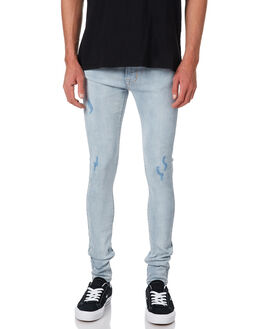 GRINDED BLUE MENS CLOTHING DR DENIM JEANS - 1610109-G46
