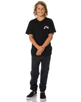VINTAGE BLACK KIDS BOYS RUSTY PANTS - PAB0286VBL