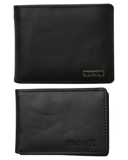 BLACK MENS ACCESSORIES HURLEY WALLETS - HU0075010