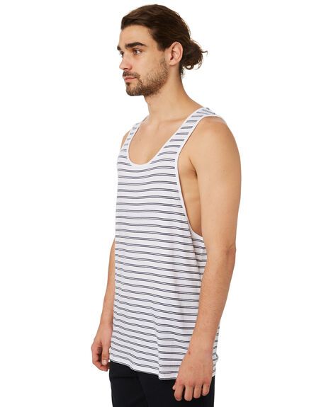 WHITE MENS CLOTHING SILENT THEORY SINGLETS - 40X0016WHT