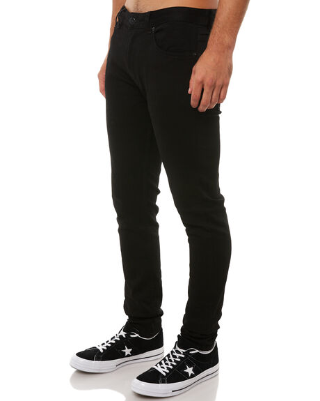JET BLACK MENS CLOTHING INSIGHT JEANS - 1000061844BLK