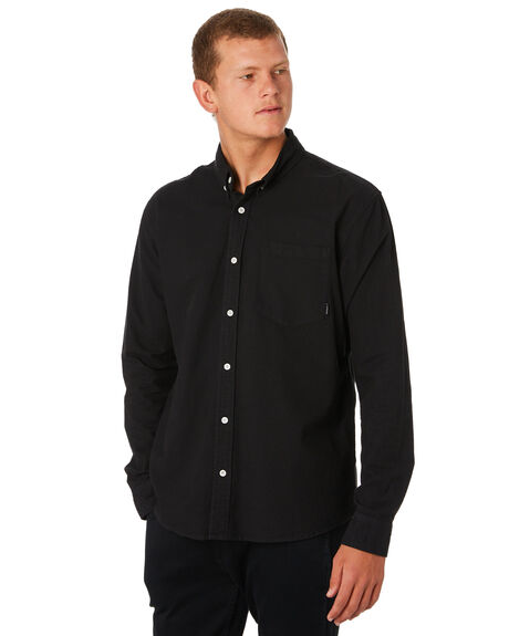 BLACK OUTLET MENS SWELL SHIRTS - S5193173BLACK