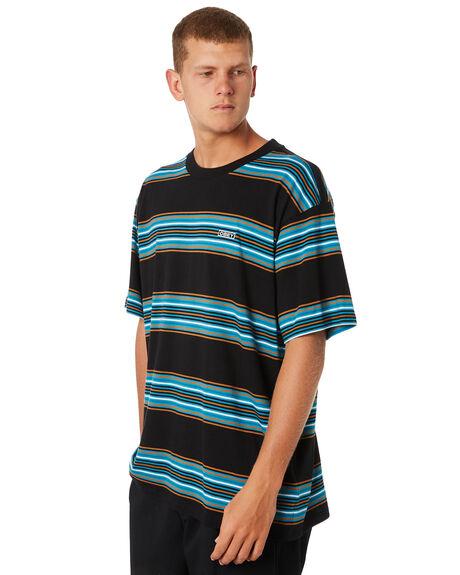 BLACK MULTI MENS CLOTHING OBEY TEES - 131080238BKM