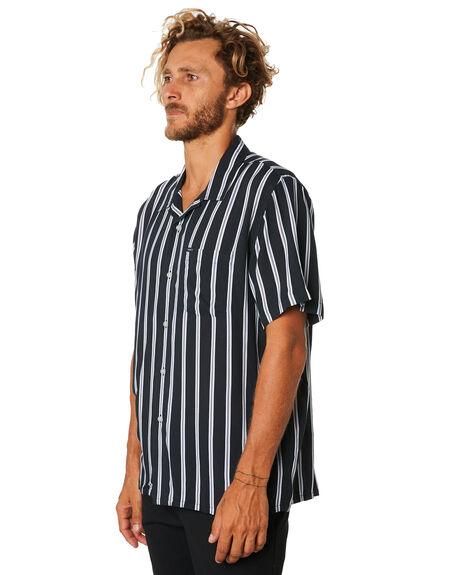 BLACK MENS CLOTHING OBEY SHIRTS - 181210236BLK