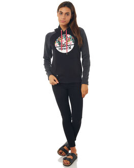 BLACK WOMENS CLOTHING HURLEY JUMPERS - AGFLK1800A