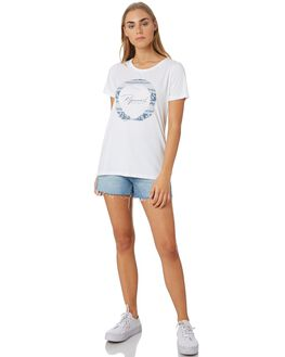 WHITE WOMENS CLOTHING RIP CURL TEES - GTECP21000