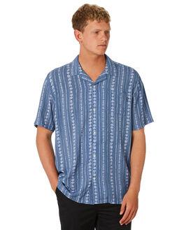 DUST BLUE MENS CLOTHING NO NEWS SHIRTS - N5202163DSTBL