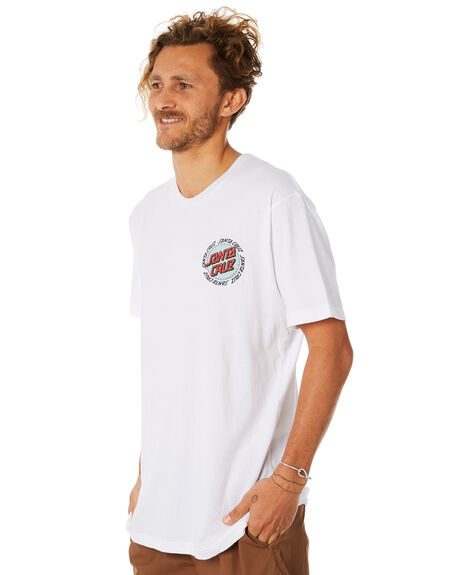 WHITE MENS CLOTHING SANTA CRUZ TEES - SC-MTC8952WHITE