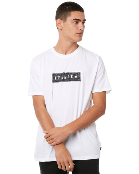 WHITE MENS CLOTHING AFENDS TEES - M182010WHT