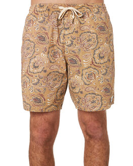 TOBACCO MENS CLOTHING RHYTHM SHORTS - OCT19M-JM06-TOB