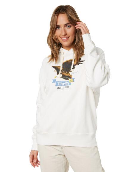 DIRTY WHITE WOMENS CLOTHING THRILLS HOODIES + SWEATS - WTH21-213ADWHT