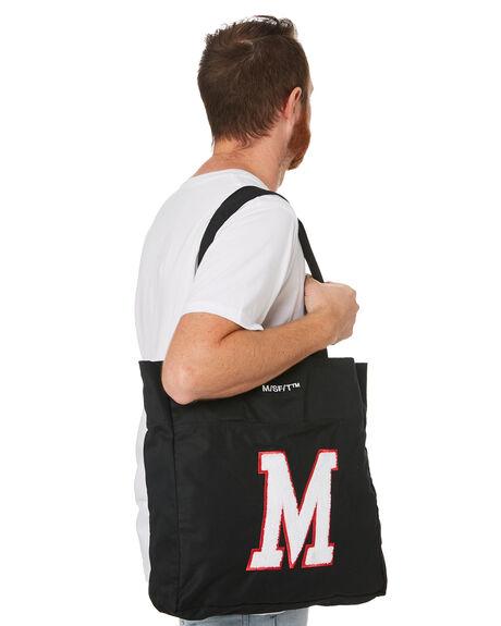 BLACK MENS ACCESSORIES MISFIT BAGS + BACKPACKS - MT702002BLK