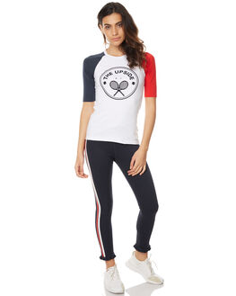WHITE WOMENS CLOTHING THE UPSIDE TEES - UPL1427WHT