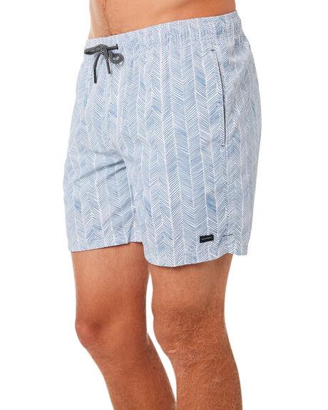 NAVY WHITE MENS CLOTHING ACADEMY BRAND BOARDSHORTS - 19S713NVWH