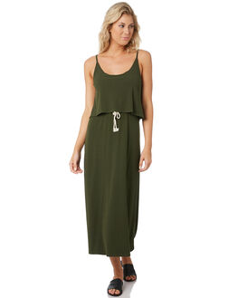 DARK ARMY WOMENS CLOTHING RUSTY DRESSES - DRL0988ARMY