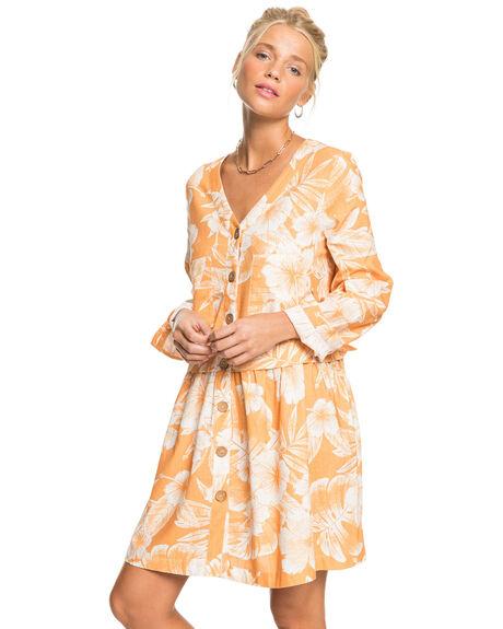 APRICOT TAN VENTURA WOMENS CLOTHING ROXY DRESSES - ERJWD03581-NJN6