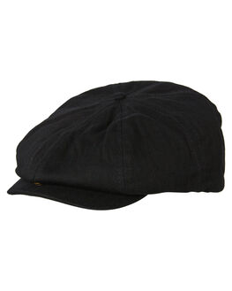 BLACK MENS ACCESSORIES BILLY BONES CLUB HEADWEAR - BBCHAT014BLK