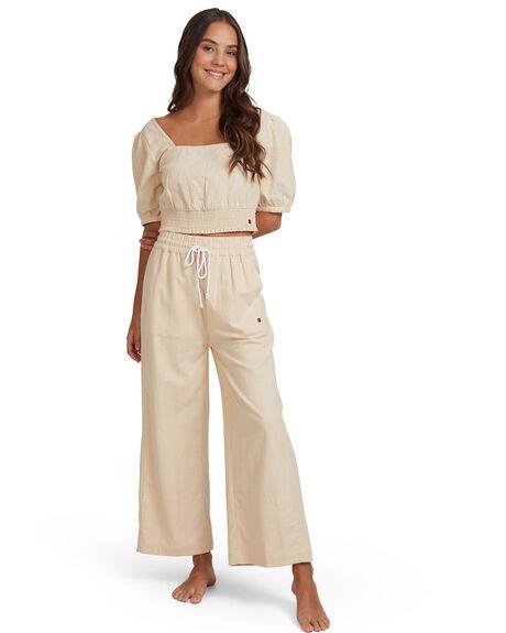 IVORY CREAM WOMENS CLOTHING ROXY PANTS - URJNP03025-TFM0