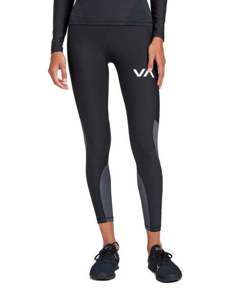 BLACK WOMENS CLOTHING RVCA ACTIVEWEAR - RV-R407883-BLK