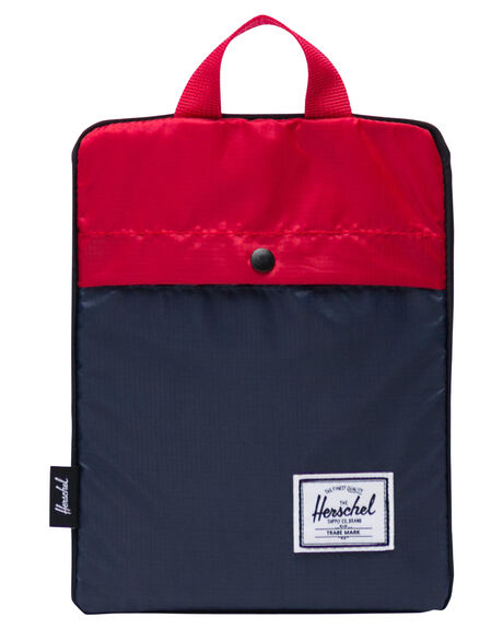 NAVY RED MENS ACCESSORIES HERSCHEL SUPPLY CO BAGS + BACKPACKS - 10614-01410-OSNVR