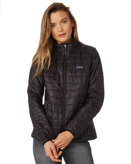 BLACK WOMENS CLOTHING PATAGONIA JACKETS - 84217BLK