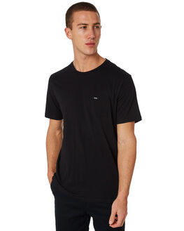 BLACK MENS CLOTHING RIP CURL TEES - CTELL20090