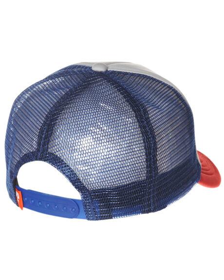 RED BLUE MENS ACCESSORIES DEUS EX MACHINA HEADWEAR - DMS07875RDB