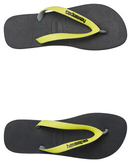 BLACK MENS FOOTWEAR HAVAIANAS THONGS - 41155498108