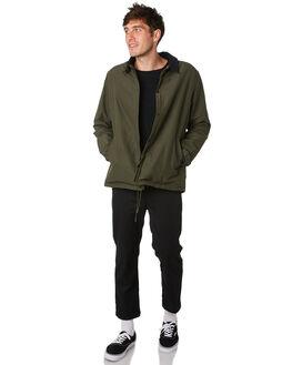 DARK OLIVE MENS CLOTHING HERSCHEL SUPPLY CO JACKETS - 50048-00442DKOLV