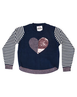 NAVY KIDS GIRLS EVES SISTER JUMPERS + JACKETS - 8010007NVY