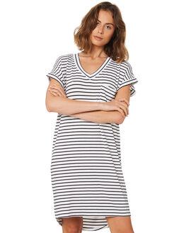 BLACK WHITE STRIPE WOMENS CLOTHING BETTY BASICS DRESSES - BB510HS18BWSTP