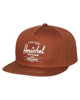 SADDLE BROWN MENS ACCESSORIES HERSCHEL SUPPLY CO HEADWEAR - 1026-0814-OSSBRW