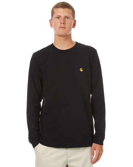 BLACK MENS CLOTHING CARHARTT TEES - IO229238990