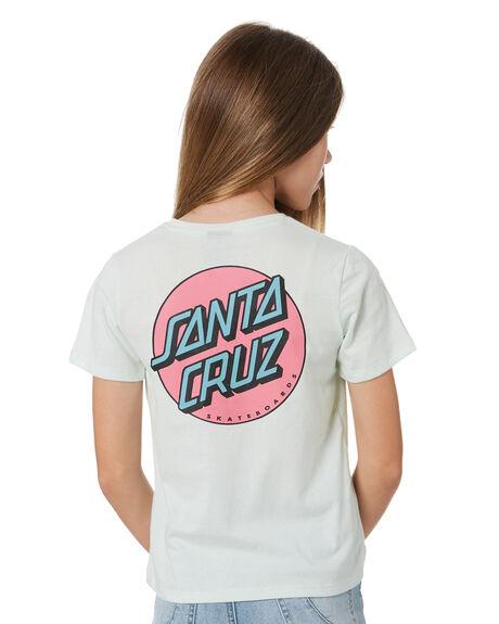PALE GREEN KIDS GIRLS SANTA CRUZ TOPS - SC-GTA1409PGRN