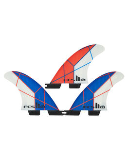 BLUE WHITE BOARDSPORTS SURF FCS FINS - FKAG-PC01-GM-TS-RBLU