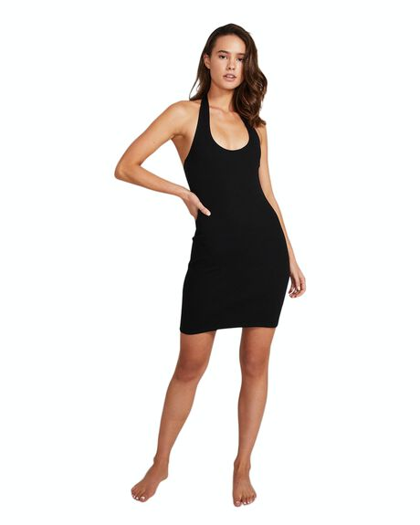BLACK WOMENS CLOTHING GENERAL PANTS CO. BASICS DRESSES - 35967300022