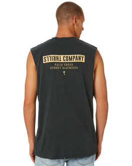 MERCH BLACK MENS CLOTHING THRILLS SINGLETS - TS8-109MBMCBLK
