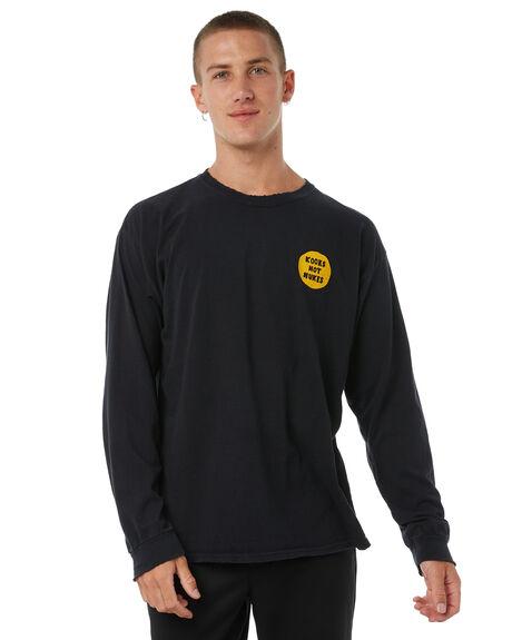 BLACK MENS CLOTHING DEAD KOOKS TEES - DKLSTEE12BLK