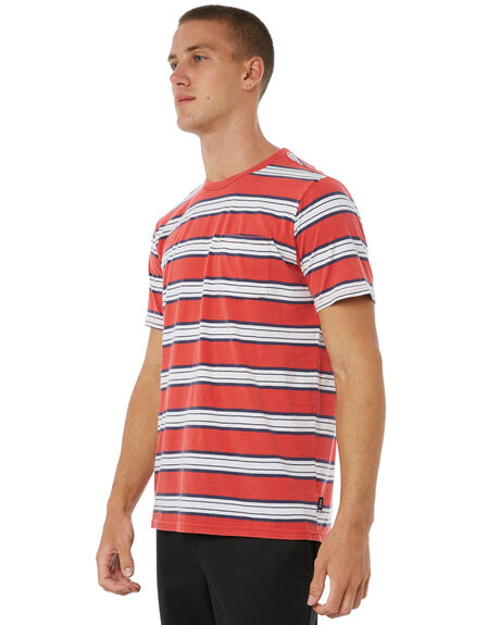 RED MENS CLOTHING BRIXTON TEES - 02241RED