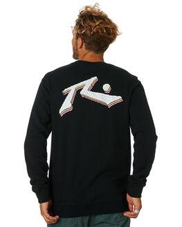 BLACK MENS CLOTHING RUSTY JUMPERS - FTM0873BLK