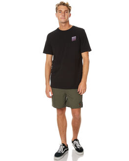 BLACK MENS CLOTHING RVCA TEES - R171064BLK